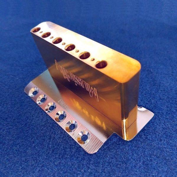 Musiclily Ultra10.5mmフルブラス36mm 短いトレモロブロック Squier Bullet Stratといくつかのインポートエレキギター用ブラスブロック取付時