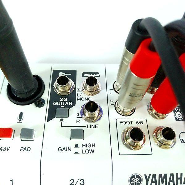 YAMAHA AG03 マイク端子入力