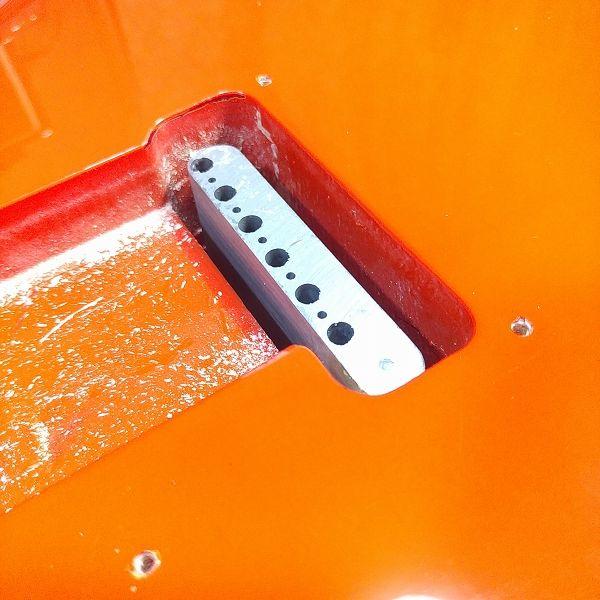 Wilkinson 10.5mm ビンテージスタイル フルブロックST ギタートレモロユニット ブリッジ 取り付けチェック裏