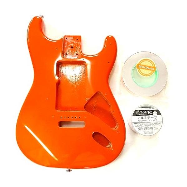 ギター ノイズ対策 アルミテープ+導電性銅箔テープ併用