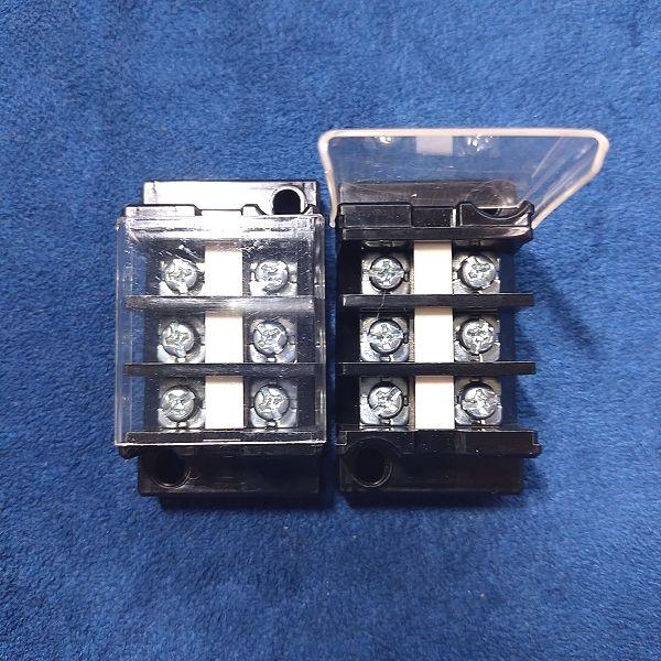 旧・春日電機 端子台 標準形 (セルフアップ) 極数3 ×2台