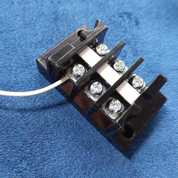 旧・春日電機 端子台 標準形 (セルフアップ) 極数3 ワイヤー固定後