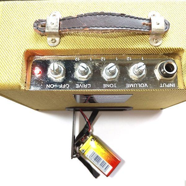 Fender Mini '57 Twin-Amp 電池動作確認