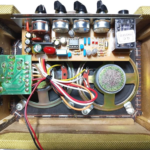 Fender Mini '57 Twin-Amp フレットラップMOD後 基板