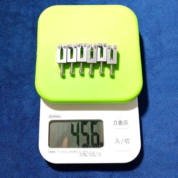 Musiclily Pro 10.5mm ステンレスサドル 重量