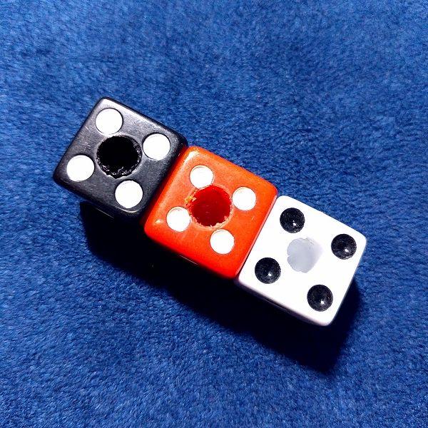 Yibuy ABS樹脂 ダイスノブセット 軸受け穴