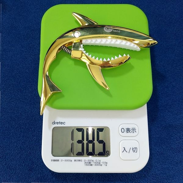 Phoenix カポタスト type Shark (Gold Shark) 重量