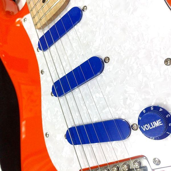 安ギターノブ 選択会議 ブルーSTノブ&PUカバーフルセット 選手 ピックアップカバーアップ