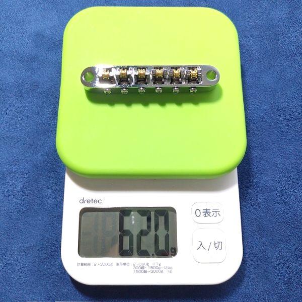 ライオンヘッドパターンテールピース / ローラーサドルブリッジ重量
