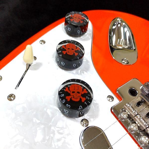 安ギターノブ 選択会議 スカルボリュームノブセット スピードノブ 取付け2
