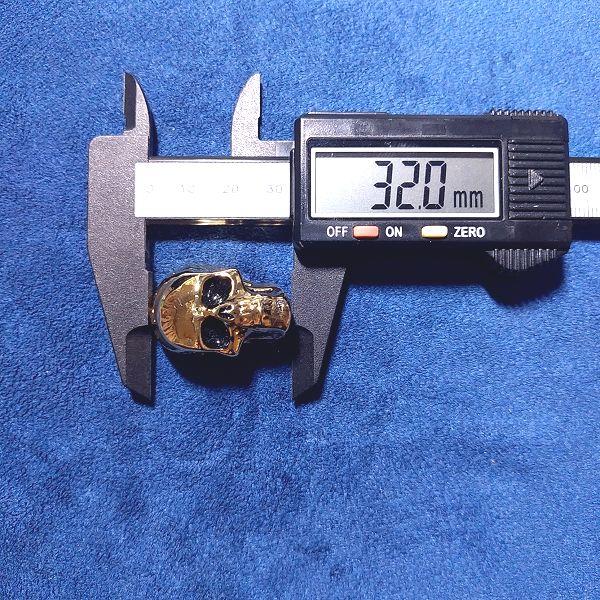 Jumbo Skull II / 頭頂部付近~顎先端付近:32.0mm