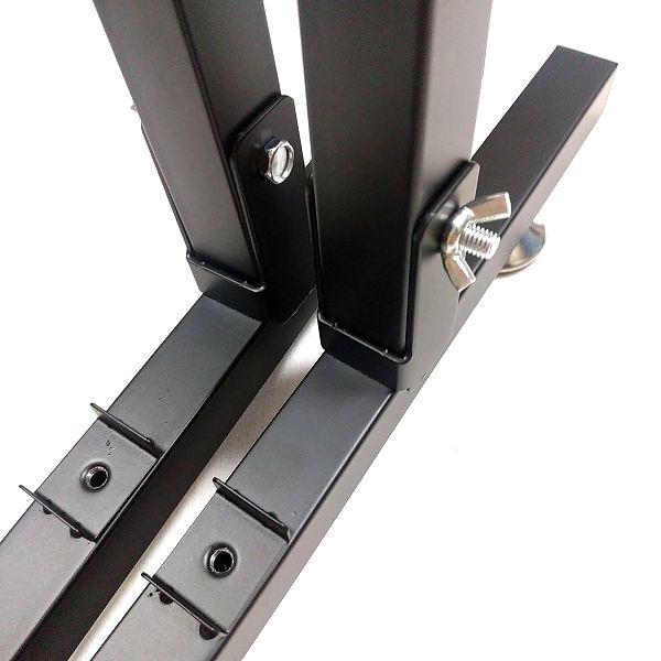BAOJIADA ギタースタンド 9本収納 下段用足つきスタンドに折り畳み対応支柱を取り付ける