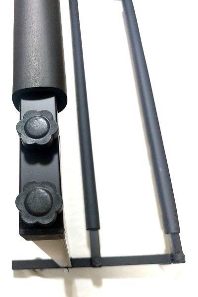 BAOJIADA ギタースタンド 9本収納 支柱に上段用穴開きクッション付きポールを固定