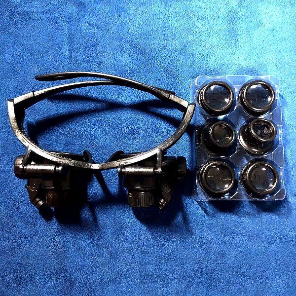 Phoenix メガネ型ルーペ 本体&交換用レンズ