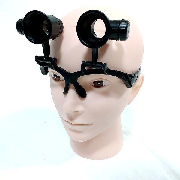 Phoenix メガネ型ルーペ 装着 ヘルメット併用 両レンズ可動